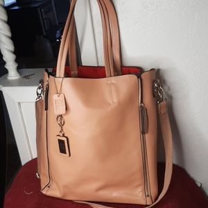 Jean Lottie Leather Tote with interior bag